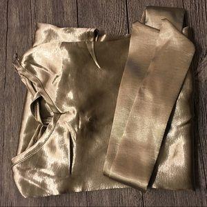 Just Like Friday Dresses - 🌟🌟Sexy Light Bronze V Cut Silk Midi Dress🌟🌟